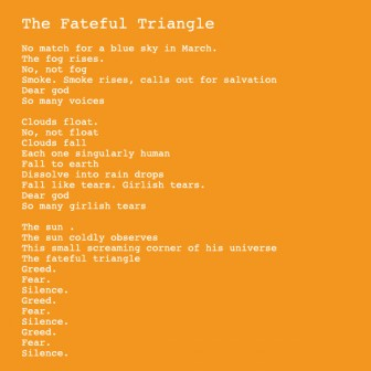 Laura_Zelasnic : The Fateful Triangle