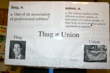 Thug does not equal Union