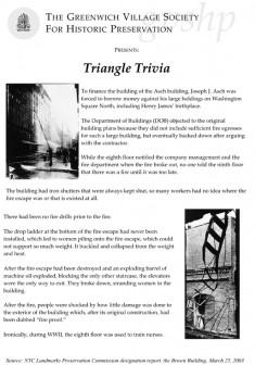 Triangle Shirtwaist Factory Factoids