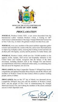 Workers United SEIU proclamation