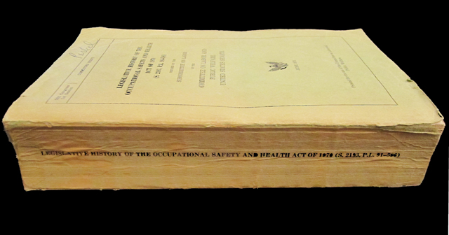 US Occupational Safety & Health Act, Legislative History